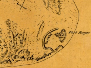 Fort Bowyer at the entrance to Mobile Bay 1814-1815. (Courtesy, Alabama Department of Archives and History)
