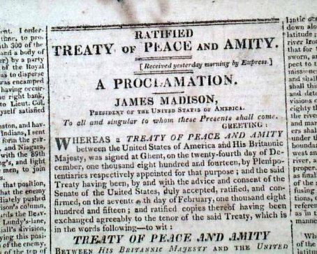 COLUMBIAN CENTINEL, Boston, Massachusetts, February 22, 1815
