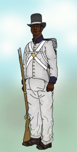 Colonial Marine in forage dress, British Army, 1814. (Image by Jakednb vis wikipedia)
