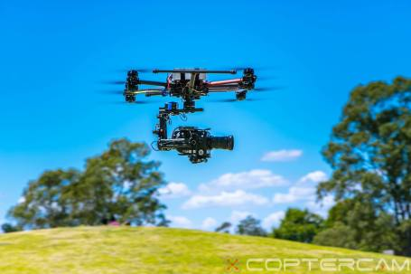 A Coptercam unmanned mini helicopter operates with a a video camera. (Photo courtesy Coptercam via Facebook)