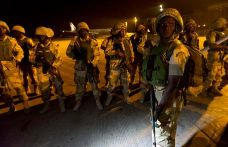 Nigerian troops as part of international peacekeeping mission in Mali 2013. (French Ministry of Defense photo)