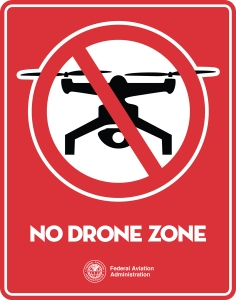 Logo for FAA's National Capital Area Drone-Free Campaign