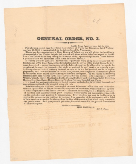 General Order No. 3