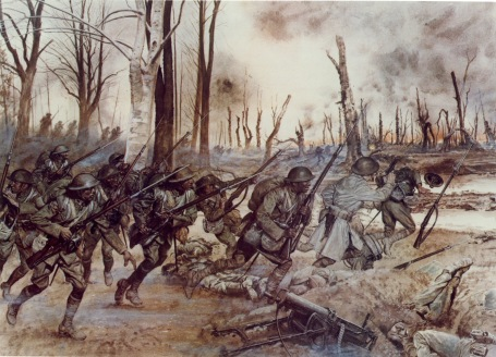 Sechault, France, September 29, 1918 ('Hell Fighters' from Harlem By H. Charles McBarron/National Guard Bureau)