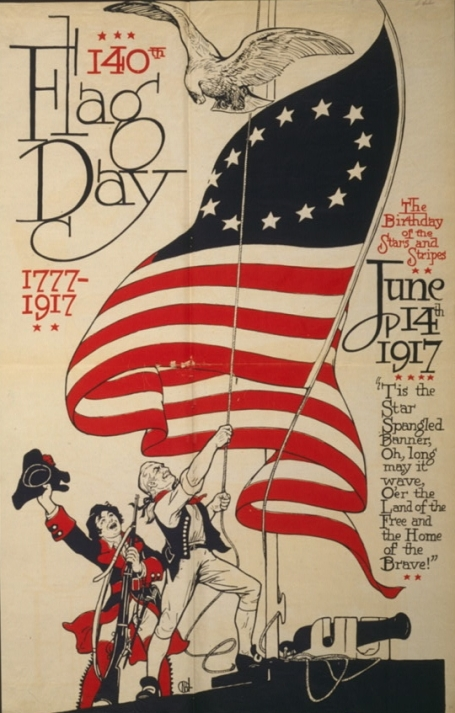 U.S. Flag Day poster 1917. (Library of Congress via wikipedia)