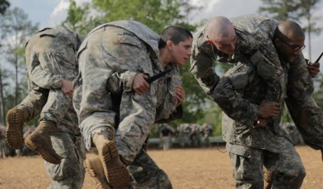 Army Capt. Kristen Griest was one of he first two women to complete the Army Ranger course and earn the coveted RANGER shoulder tab. (U.S. Army photo)