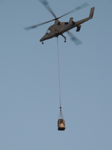 The K-MAX unmanned cargo helicopter. (Photo courtesy of Lockheed Martin)