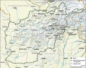 Afghanistan (Map courtesy of Institute for the Study of War)