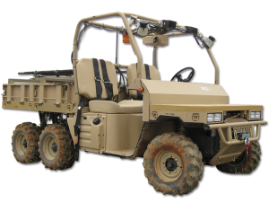 A Polaris xxxxxxx used in the GUSS autonomous squad vehicle study by the Marine Corps Warfighting Lab. (Photo courtesy of Polaris Defense)