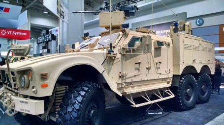 Oshkosh Defense M-ATV 6X6 at AUSA 2015 (4GWAR photo by John M. Doyle)