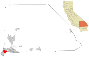 Location of San Bernardino city and county in California (via wikipedia)