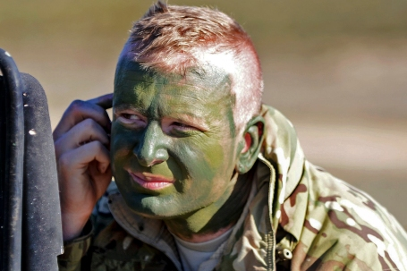 Green Camouflage Paint