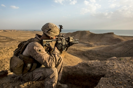 All Secured: U.S. Marines Remain Alert in Iraq