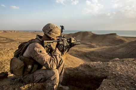 All Secured: U.S. Marines Remain Alert in Iraq