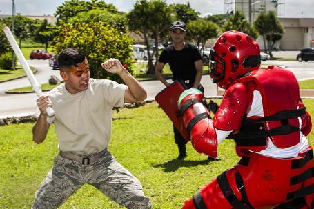 18th SFS members undergo OC spray training