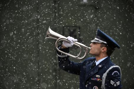 106th Rescue Wing Honor Guard Trains in the Snow