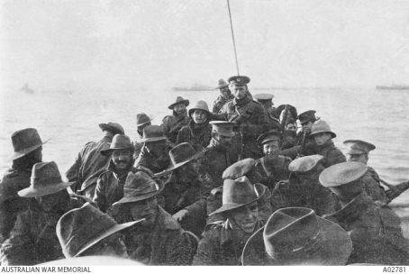 Aussie troops Gallipoli