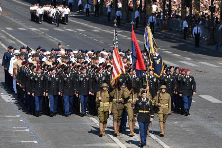 U.S. Forces Honored During Bastille National Day Parade