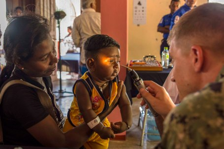 PP18 personnel participate in a cooperative health exchange at Sri Lanka