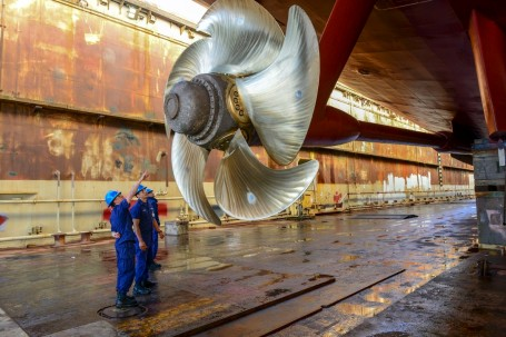 Coast Guard Cutter Waesche completes drydock maintenance