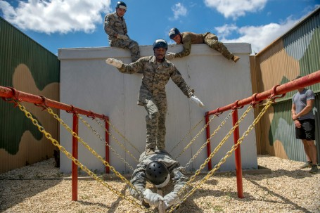 Special Operations Recruiters at Battlefield Airman Training