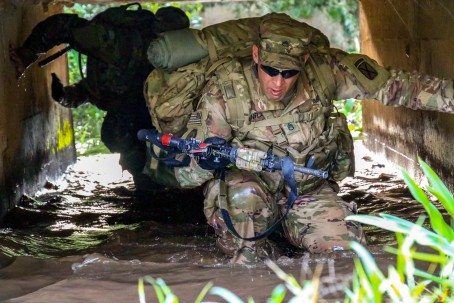 U.S. Army Soldiers participate in Jungle Warfare School in Ghana