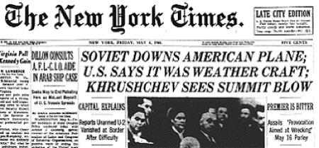 U-2 New York Times, May 1960