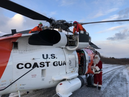 XMAS No. 8 Coast Guard Santa