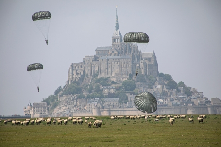 10th SFG(A) conduct airborne operation near island of Mont Saint Michel